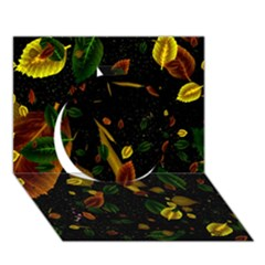 Autumn 03 Circle 3d Greeting Card (7x5) by MoreColorsinLife
