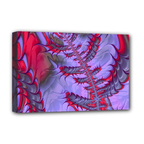 Freaky Friday Red  Lilac Deluxe Canvas 18  X 12   by Fractalworld
