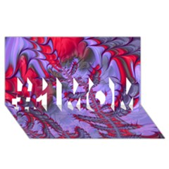 Freaky Friday Red  Lilac #1 Mom 3d Greeting Cards (8x4) by Fractalworld