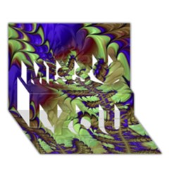 Freaky Friday, Blue Green Miss You 3d Greeting Card (7x5) by Fractalworld