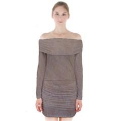 Artexwirl Long Sleeve Off Shoulder Dress by DeneWestUK