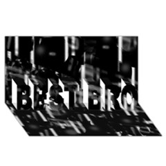 Black And White Neon City Best Bro 3d Greeting Card (8x4)