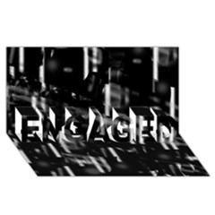 Black And White Neon City Engaged 3d Greeting Card (8x4)