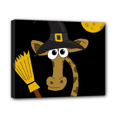 Halloween Giraffe Witch Canvas 10  X 8  by Valentinaart