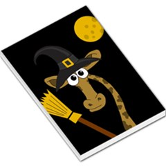 Halloween Giraffe Witch Large Memo Pads by Valentinaart