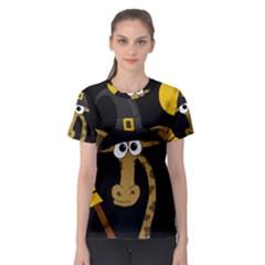 Halloween Giraffe Witch Women s Sport Mesh Tee by Valentinaart