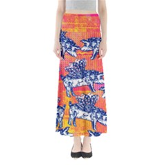 Little Flying Pigs Women s Maxi Skirt by DanaeStudio