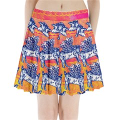 Little Flying Pigs Pleated Mini Skirt by DanaeStudio