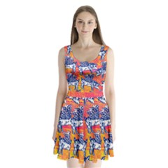 Little Flying Pigs Split Back Mini Dress  by DanaeStudio