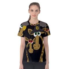 Giraffe Halloween Party Women s Cotton Tee by Valentinaart