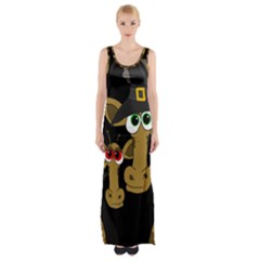 Giraffe Halloween Party Maxi Thigh Split Dress by Valentinaart