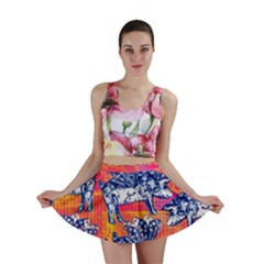 Little Flying Pigs Mini Skirt by DanaeStudio