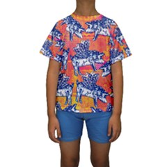Little Flying Pigs Kids  Short Sleeve Swimwear by DanaeStudio