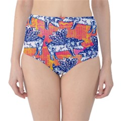 Little Flying Pigs High Waist Bikini Bottoms