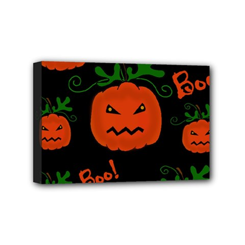 Halloween Pumpkin Pattern Mini Canvas 6  X 4  by Valentinaart