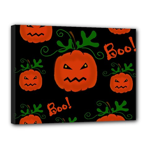 Halloween Pumpkin Pattern Canvas 16  X 12  by Valentinaart