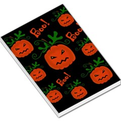 Halloween Pumpkin Pattern Large Memo Pads