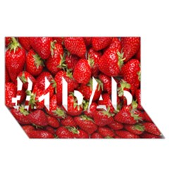 Red Fruits #1 Dad 3d Greeting Card (8x4)