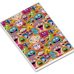 Smiley Pattern Large Memo Pads by AnjaniArt