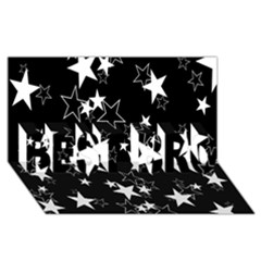 Star Black White Best Bro 3d Greeting Card (8x4) by AnjaniArt