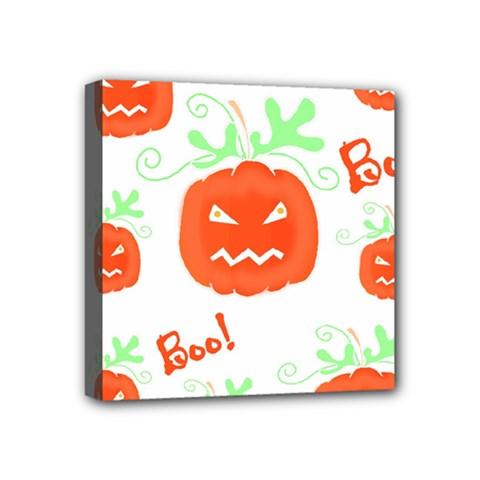 Halloween Pumpkins Pattern Mini Canvas 4  X 4  by Valentinaart