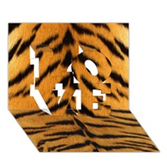 Tiger Skin Love 3d Greeting Card (7x5)