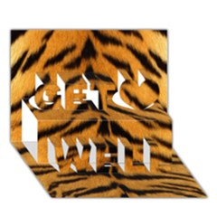 Tiger Skin Get Well 3d Greeting Card (7x5) by AnjaniArt