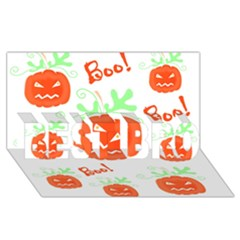 Halloween Pumpkins Pattern Best Bro 3d Greeting Card (8x4)