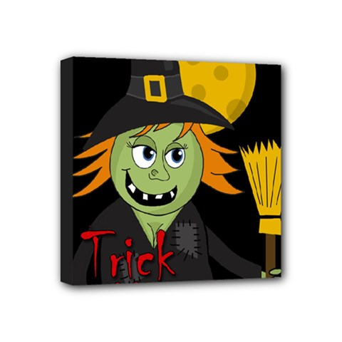 Halloween Witch Mini Canvas 4  X 4  by Valentinaart