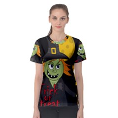 Halloween witch Women s Sport Mesh Tee