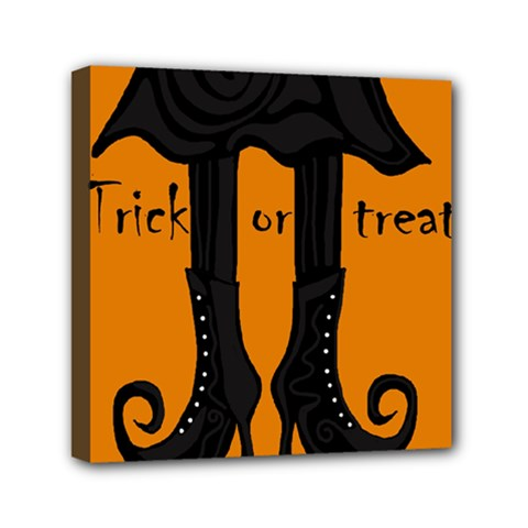 Halloween   Witch Boots Mini Canvas 6  X 6  by Valentinaart