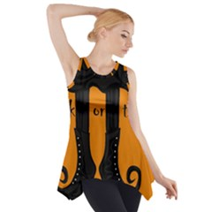 Halloween   Witch Boots Side Drop Tank Tunic by Valentinaart