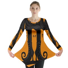 Halloween   Witch Boots Long Sleeve Tunic  by Valentinaart