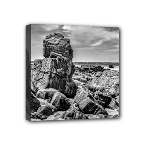 Rocks At Shore In Praia Malhada Jericoacoara Brazil Mini Canvas 4  X 4  by dflcprints