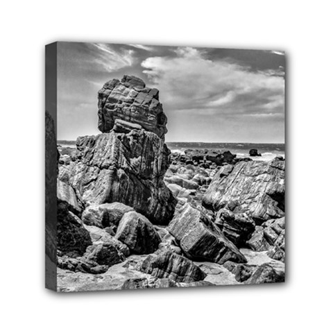 Rocks At Shore In Praia Malhada Jericoacoara Brazil Mini Canvas 6  X 6  by dflcprints