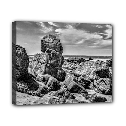 Rocks At Shore In Praia Malhada Jericoacoara Brazil Canvas 10  X 8  by dflcprints