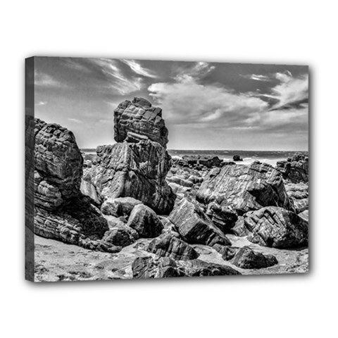 Rocks At Shore In Praia Malhada Jericoacoara Brazil Canvas 16  X 12  by dflcprints