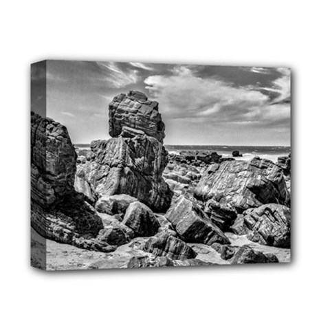 Rocks At Shore In Praia Malhada Jericoacoara Brazil Deluxe Canvas 14  X 11  by dflcprints