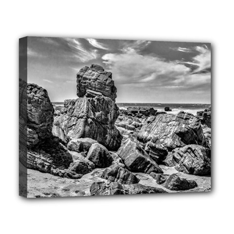 Rocks At Shore In Praia Malhada Jericoacoara Brazil Deluxe Canvas 20  X 16   by dflcprints