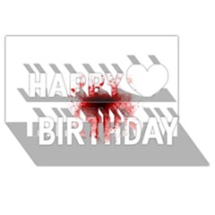 Gunshot Wound Happy Birthday 3D Greeting Card (8x4) by TailWags