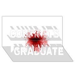Gunshot Wound Congrats Graduate 3D Greeting Card (8x4) by TailWags