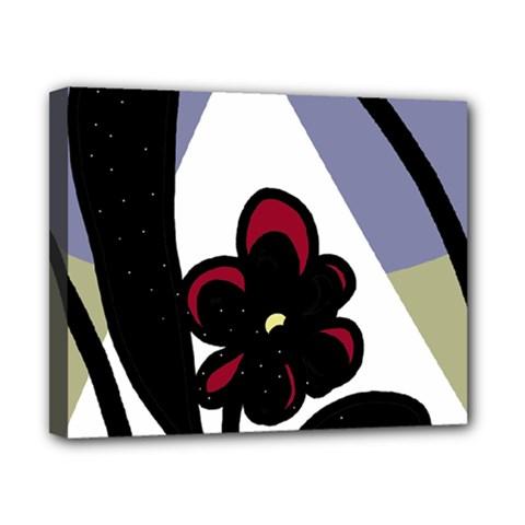 Black Flower Canvas 10  X 8  by Valentinaart