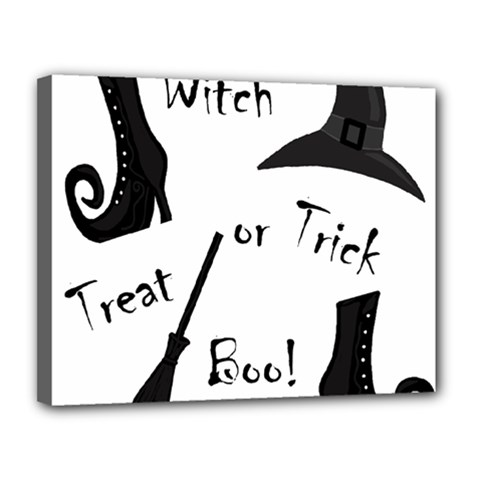 Halloween Witch Canvas 14  X 11  by Valentinaart