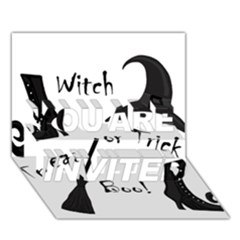 Halloween Witch You Are Invited 3d Greeting Card (7x5) by Valentinaart