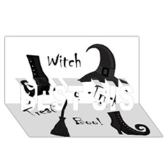 Halloween Witch Best Sis 3d Greeting Card (8x4) by Valentinaart