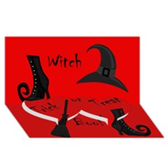 Witch Supplies  Twin Heart Bottom 3d Greeting Card (8x4) by Valentinaart