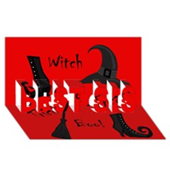 Witch Supplies  Best Sis 3d Greeting Card (8x4) by Valentinaart