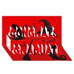 Witch Supplies  Congrats Graduate 3d Greeting Card (8x4) by Valentinaart
