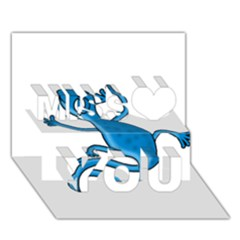 Blue Lizard Miss You 3d Greeting Card (7x5)