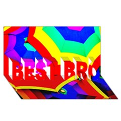 Umbrella Color Red Yellow Green Blue Purple Best Bro 3d Greeting Card (8x4)